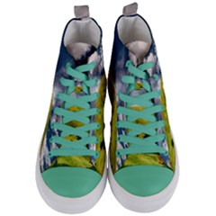 Hill Countryside Landscape Nature Women s Mid Top Canvas Sneakers