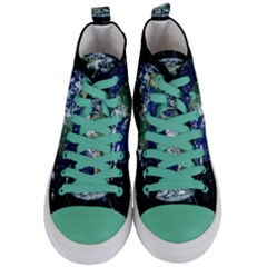 Earth Internet Globalisation Women s Mid Top Canvas Sneakers
