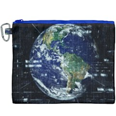 Earth Internet Globalisation Canvas Cosmetic Bag (xxxl)