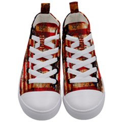 American Flag Usa Symbol National Kid s Mid Top Canvas Sneakers