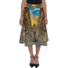 Abbey Ruin Architecture Medieval Perfect Length Midi Skirt
