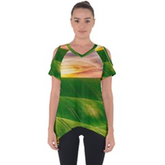 Hills Countryside Sky Rural Cut Out Side Drop Tee