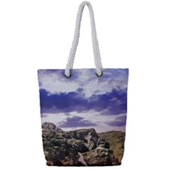 Mountain Snow Landscape Winter Full Print Rope Handle Tote (small)