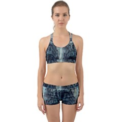 Storm Damage Disaster Weather Back Web Sports Bra Set