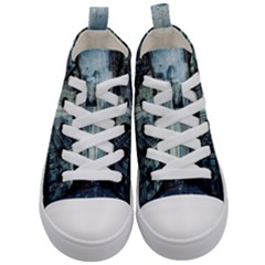 Storm Damage Disaster Weather Kid s Mid Top Canvas Sneakers