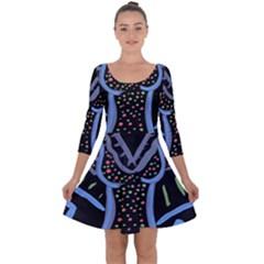 Saint Dress Quarter Sleeve Skater Dress