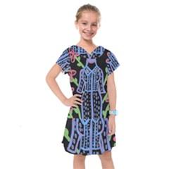 Dress And Flowers Kids  Drop Waist Dress