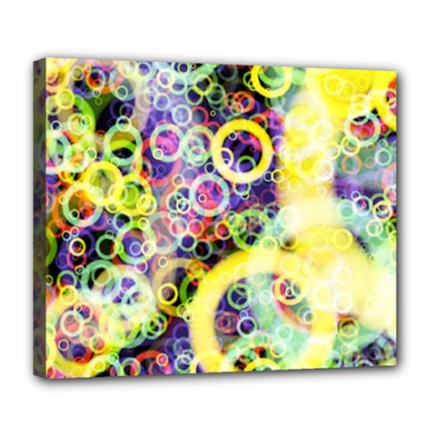 Background Texture Rings Deluxe Canvas 24  X 20