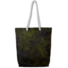 Green Background Texture Grunge Full Print Rope Handle Tote (small)