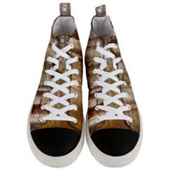 Forest Trees Wood Branc Men s Mid Top Canvas Sneakers