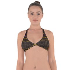 Hot As Candles And Fireworks In Warm Flames Halter Neck Bikini Top