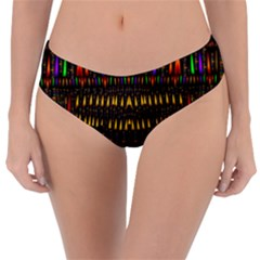 Hot As Candles And Fireworks In Warm Flames Reversible Classic Bikini Bottoms