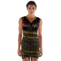 Hot As Candles And Fireworks In Warm Flames Wrap Front Bodycon Dress