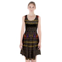 Hot As Candles And Fireworks In Warm Flames Racerback Midi Dress