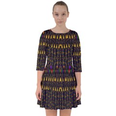 Hot As Candles And Fireworks In Warm Flames Smock Dress