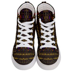 Hot As Candles And Fireworks In Warm Flames Women s Hi Top Skate Sneakers