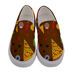 Pizza Party Women s Canvas Slip Ons