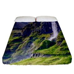 Waterfall Landscape Nature Scenic Fitted Sheet (queen Size)