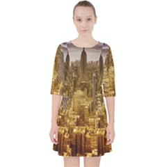 New York Empire State Building Pocket Dress