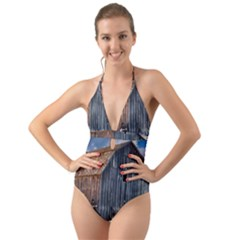 Banjo Player Outback Hill Billy Halter Cut Out One Piece Swimsuit