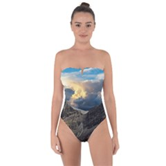 Landscape Clouds Scenic Scenery Tie Back One Piece Swimsuit