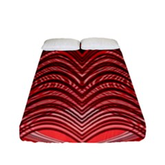 Red Wave Pattern Fitted Sheet (full/ Double Size)