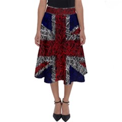 Union Jack Flag Uk Patriotic Perfect Length Midi Skirt