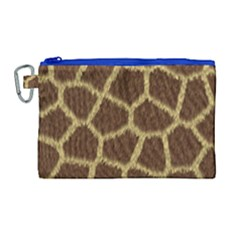 Background Texture Giraffe Canvas Cosmetic Bag (large)