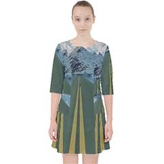 Road Ice Landscape Pocket Dress