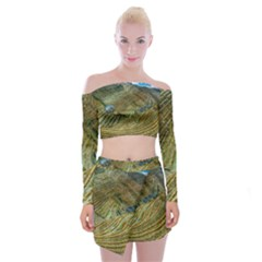 Rice Field China Asia Rice Rural Off Shoulder Top With Mini Skirt Set