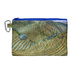 Rice Field China Asia Rice Rural Canvas Cosmetic Bag (large)