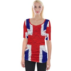 Union Jack Flag National Country Wide Neckline Tee