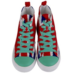 Union Jack Flag National Country Women s Mid Top Canvas Sneakers