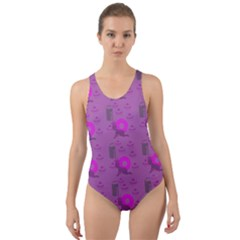 Punk Baby Violet Cut Out Back One Piece Swimsuit