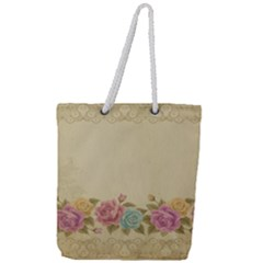 Shabby Country Full Print Rope Handle Tote (large)