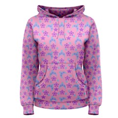 Pink Star Blue Hats Women s Pullover Hoodie