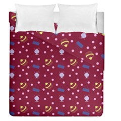 Cakes And Sundaes Red Duvet Cover Double Side (queen Size)