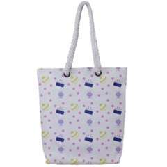 Cakes And Sundaes Full Print Rope Handle Tote (small)