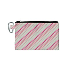 Candy Diagonal Lines Canvas Cosmetic Bag (small)
