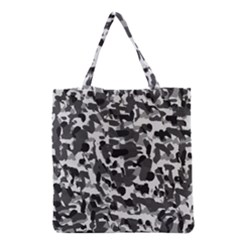 Grey Camo Grocery Tote Bag