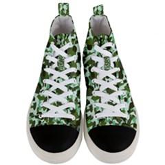 Green Camo Men s Mid Top Canvas Sneakers