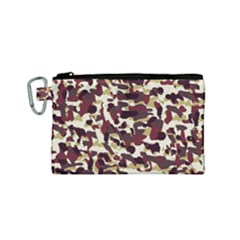 Red Camo Canvas Cosmetic Bag (small)