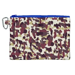 Red Camo Canvas Cosmetic Bag (xl)