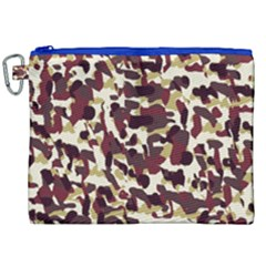 Red Camo Canvas Cosmetic Bag (xxl)