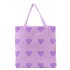 Violet Heart Grocery Tote Bag