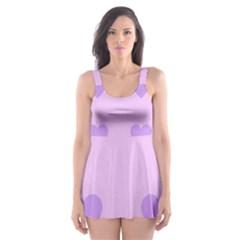 Violet Heart Skater Dress Swimsuit