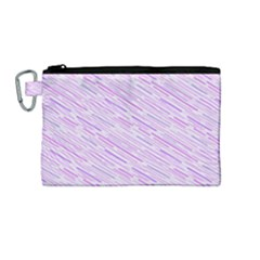 Silly Stripes Lilac Canvas Cosmetic Bag (medium)