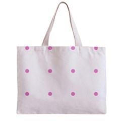 Pink Dots Zipper Mini Tote Bag