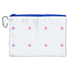 Pink Dots Canvas Cosmetic Bag (xl)