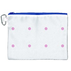 Pink Dots Canvas Cosmetic Bag (xxl)